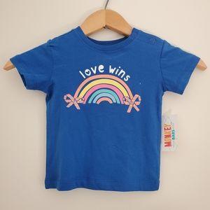 3/$20 - New Baby Girl Rainbow T-Shirt - 12 Months